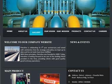 web template for petroline company