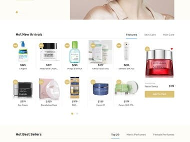 Responsive e-commerce website deisgn (Bootstrap)
