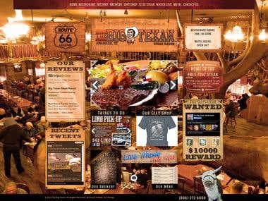 Home page mockup for Steak restaurant
