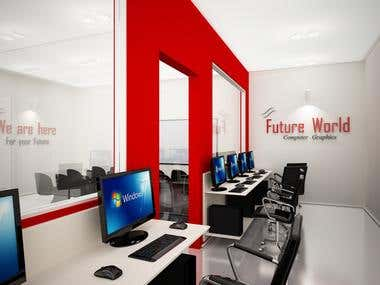 Computer Graphics Centre interior Design 3D