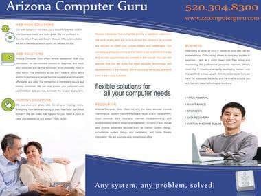 Brochure Created for Computer Guru