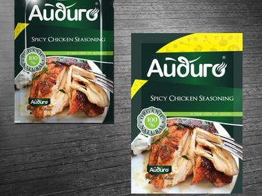 packaging design for seasoning brand