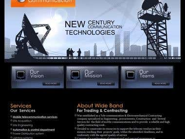 web template for wide band telecom company