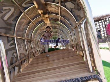 Plane steel structure