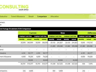 Web Site for Tax Calculation