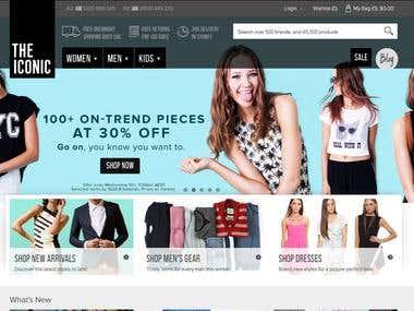 Cloth Ecommerce website