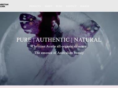 Organic Skin Care - E-commerce | Shopify | Pay Pal Gateway