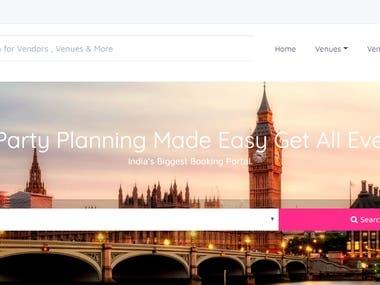 Event Management - Custom Developed | PHP | Bootstrap | Visa