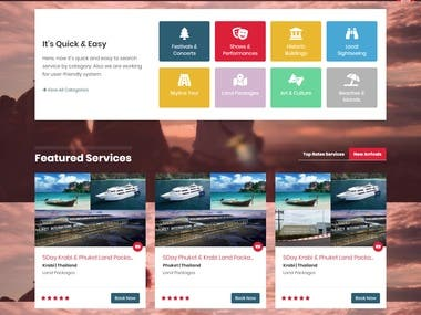 Travel & Event Booking - PHP | Bootstrap