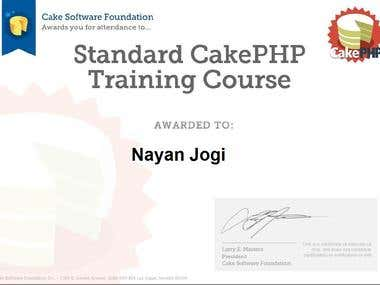 Standard CakePHP Training Course