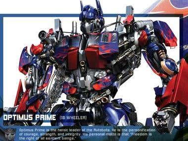 Stories behind transformer prime TV series.