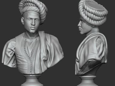 Ancient bust model