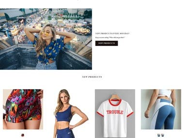 Fashion Website (Shopify)