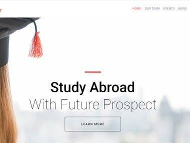 Education Consultant Website and Social Media