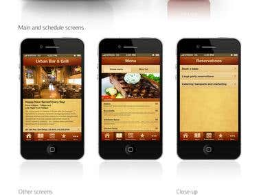Urban Bar & Grill application