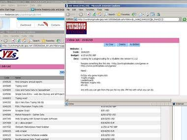 Simple Program for Search Freelancer Jobs