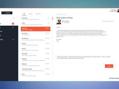Email client-User Interface Design