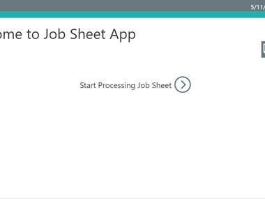 Job Sheet App (PowerApp),