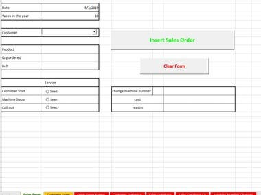 Excel Forms, Database and Reports
