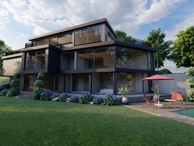 Exterior, Landscaping and pool design project