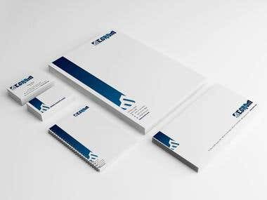 Mecrom Corporate Stationery Design