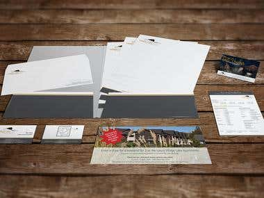 Village Lake Apartments Corporate Stationery