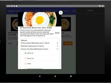 Multi Restaurant Ordering Page and Inline Pos system