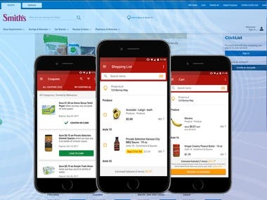 Food Shopping Website and Mobile App