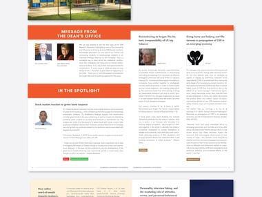 Dhillon school of business newsletter