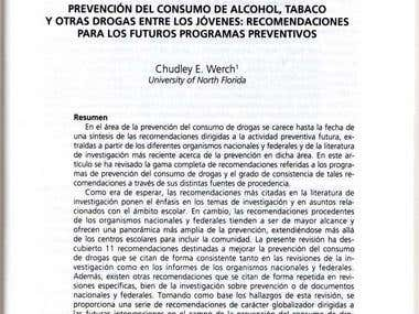 Published translation of article on prevention