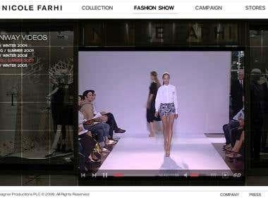 Nicole Farhi website re-coding
