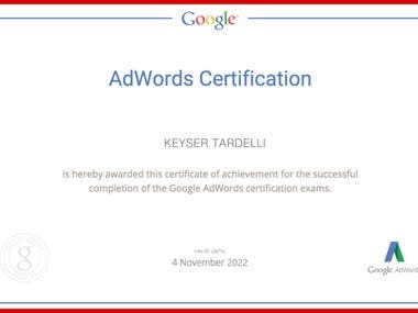Google Adwords Expertise Certificate
