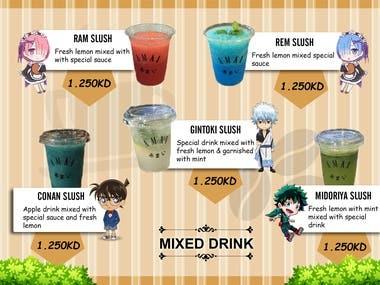 Anime menu