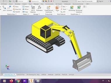 Designing rotary tiller machine using hydraulic system