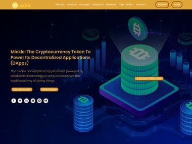 Cryptocurrency Token site