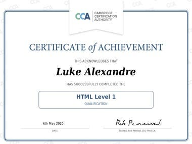 Cambridge Certificate Authority - HTML