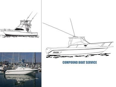 Compound Boat-Line Drawing