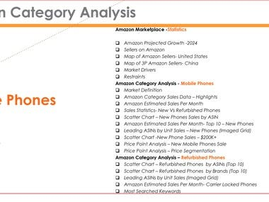 Amazon Category Analysis + Product Positioning