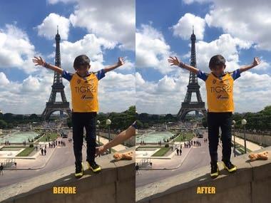 Image Retouching / Background Remove