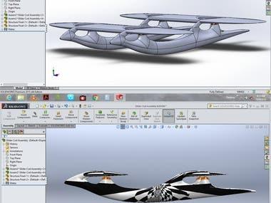 A gliding quad-copter conceptual design