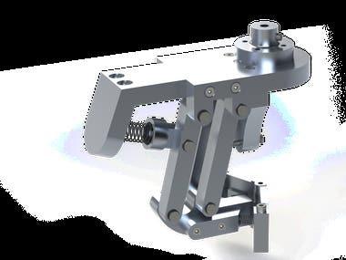 Robotic arm end-effector mechanism