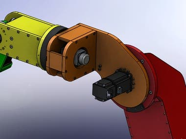 Robot arm design, simulation and manufacturing.