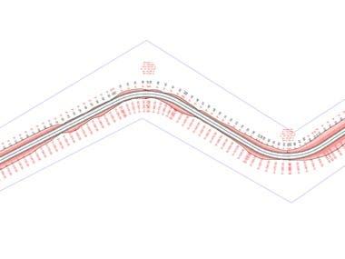 3D AutoCAD Road design School Project