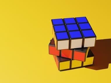 3D rubic's cube model
