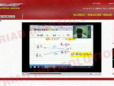 Live classroom lectures streaming
