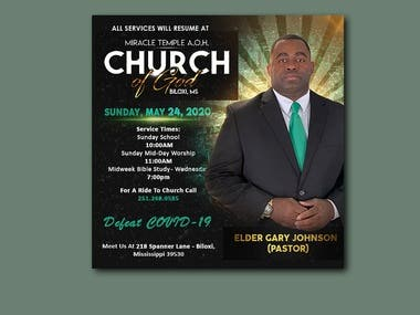 Church flyer.