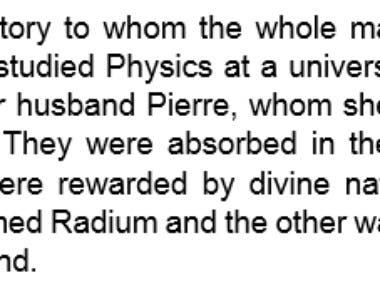 Excerpt, Article, Curie