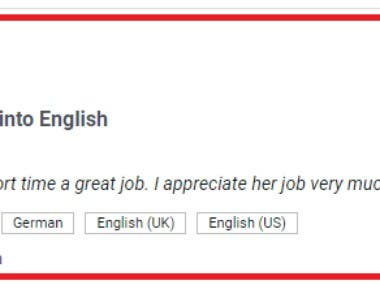 Translationjob German into English and write a report in Eng