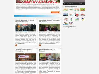 Project web site for Eouropion Union using wordpress cms. ww