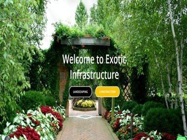 Exotic infra structure